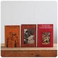 イギリス アンティーク ブック3冊セット/古本/古書/洋書/インテリア雑貨/書籍/ディスプレイ『HOW RHODA WENT ABROAD』M-110