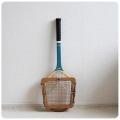 イギリス ヴィンテージ 木製テニスラケット/ラケットプレス付き/インテリア/Dunlop M-145