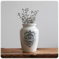 イギリス アンティーク 陶器NUMOLボトル/ヌモール/ジャー/花器/容器/ペン立て/雑貨【栄養補助食品ポット】M-303