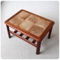北欧ビンテージ家具 タイルトップのコーヒーテーブル/ミッドセンチュリー/チーク材 M-310