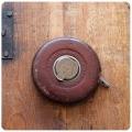 イギリス アンティーク メジャー/革製ケース/巻尺/真鍮/レザー/オブジェ/ディスプレイ【John Rabone & Sons】M-311