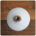 フランス アンティーク ミルクガラス ランプシェード/ペンダントランプ/照明/店舗/カフェ【柔らかい光をお部屋に!】M-641