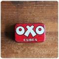 イギリス アンティーク OXO Cubes/オクソ缶/TIN/ティン/ブリキ/インテリア雑貨【コレクターが数多く存在するOXO缶】M-652