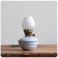 イギリス アンティーク ケリーランプ/オイルランプ/ミルクガラス/照明器具/キャンプ【子供部屋で使われていたランプ】M-702