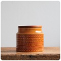 イギリス ビンテージ ホーンジー ティーキャニスター/ポット/TEA/SAFFRON/容器/ジャー【英国陶器メーカーHORNSEA】M-807