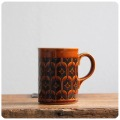 イギリス ビンテージ ホーンジー マグカップ/エアルーム/HEIRLOOM/コップ/オータムブラウン【英国陶器メーカーHORNSEA】M-847