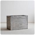 イギリス アンティーク Wall's アイスクリームコンテナ/アルミ製ボックス/収納箱/雑貨【エンボスロゴが可愛いBOX】M-859
