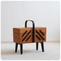 ポーランド製 アンティーク 脚付きソーイングボックス/収納ケース/ヴィンテージ家具【可愛くて個性的な裁縫箱はいかが?】M-972