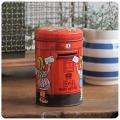 イギリス ビンテージ トフィー缶/Sharp's/ポストTIN/ティン/ブリキ/アンティーク雑貨【貯金箱になるお菓子の缶】N-614