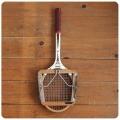 イギリス ビンテージ 木製テニスラケット/ラケットプレス付き/インテリア/Dunlop【雰囲気つくりのディスプレイに】N-704