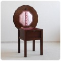 イギリス アンティーク MORCO ソーイングボックス/裁縫箱/机/収納家具【コーヒーテーブル使用もOK】N-717