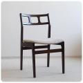イギリス ビンテージ クッションチェア/北欧スタイル/ミッドセンチュリー【背もたれのフォルムが素敵な椅子】N-729
