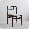 イギリス ビンテージ クッションチェア/北欧スタイル/ミッドセンチュリー【背もたれのフォルムが素敵な椅子】N-779