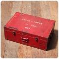イギリス アンティーク PORTO-POWERボックス/ペイント/インテリア/トランク【重くとても丈夫な木箱】N-833