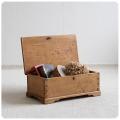 イギリス アンティーク オールドパインボックス/木箱/ツールBOX/インテリア【古い木肌が素敵なアイテム】N-891