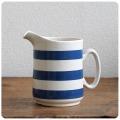 イギリス アンティーク 陶器ジャグ/コーニッシュウェア/食器/花器【定番ブルー&ホワイトのボーダー柄】N-898