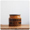 イギリス ビンテージ ホーンジー ティーキャニスター/TEA/HEIRLOOM/オータムブラウン【英国陶器メーカーHORNSEA】S-128