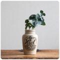 イギリス アンティーク Virol陶器ボトル/ヴァイロール/ポット/インテリア雑貨/フラワーベース/花器【レアな骨握りマーク入り】S-143
