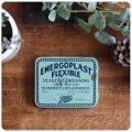 イギリス アンティーク バンドエイドテープ缶/ティン/ブリキ/小物/コレクタブル/ケース【Boots EMERGOPLAST FLEXIBLE】S-402