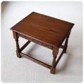 イギリス アンティーク調 JAYCEE コーヒーテーブル/オーク無垢材/ジェイシー/センターテーブル【彫刻デザインが素敵】S-410