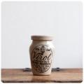 イギリス アンティーク Virol陶器ボトル/ミニサイズ/ヴィロール/フラワーベース/花器/雑貨【人気のヴァイロールボトル】S-471