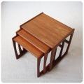 イギリス ビンテージ G-PLAN ネストテーブル/ジープラン/ミッドセンチュリー家具/チーク【シンプルな北欧スタイル】S-478