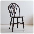 イギリス アンティーク調家具 ホイールバックチェア/ウィンザーチェア/トラディショナル/木製椅子【車輪のモチーフが素敵】S-958