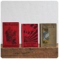 イギリス アンティーク ブック3冊セット/本/古書/洋書/インテリア雑貨【ディスプレイにいかがですか?】Y-012