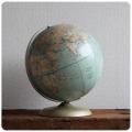 アメリカ ビンテージ RAND McNALLY地球儀/グローブ/ランドマクナリー/台座付き【インテリアにいかが?】Y-016