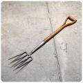 イギリス アンティーク ガーデンフォーク/ガーデニング用品/農具/ツール【アイアン&ウッドの質感が素敵!】Y-055