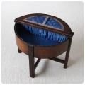 イギリス アンティーク ソーイングボックス/裁縫箱/収納家具/オーク家具【サイドテーブル使用もOK】Y-065