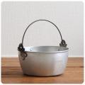 イギリス アンティーク ジャムメイキングパン/キッチン雑貨/ガーデニング/ディスプレイ【アルミ製のジャム鍋】Y-224