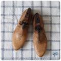 イギリス アンティーク MOBBS & LEWIS 靴型/シューモールド/オブジェ/インテリア雑貨/無垢【ブロカント】Y-400