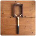 イギリス アンティーク 木製テニスラケット/ラケットプレス付き/インテリア/英国製【雰囲気つくりのディスプレイに】Y-725