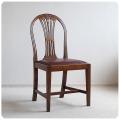 イギリス アンティーク ダイニングチェア/レザーシート/革張り座面/装飾あり/英国製【丈夫なつくりのマホガニー椅子】Y-799