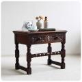 イギリス アンティーク オーク ドロワー付きローテーブル/コーヒーテーブル Y-945