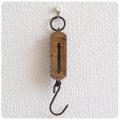 ドイツ製 アンティーク ポケットバランス/スプリングバランス/ハンギングスケール/吊りはかり/ブラス/真鍮【POCKET BALANCE】Z-090