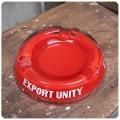 イギリス ヴィンテージ ガラス製 灰皿/アッシュトレイ/コレクタブル/アクセサリートレイ/喫煙具【Hammonds Export Unity】Z-166