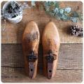 イギリス アンティーク MOBBS & LEWIS 靴型/シューモールド/オブジェ/インテリア雑貨/無垢/シューキーパー【ブロカント】Z-278