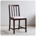 イギリス アンティーク ダイニングチェア/ファブリックシート/木製椅子/英国製/オーク材家具【木目や座面が素敵なイス】Z-309