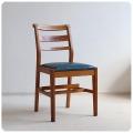 イギリス アンティーク チャーチチェア/教会椅子/レザーシート/店舗什器/ディスプレイ【聖書や手荷物置き棚付き!】Z-337