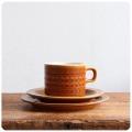 イギリス ビンテージ ホーンジー カップ&ソーサ― トリオ/SAFFRON/コーヒー/北欧/食器【英国陶器メーカーHORNSEA】Z-372
