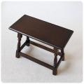 イギリス アンティーク 木製サイドテーブル/ディスプレイ/店舗什器/英国家具/トラディショナル/花台【スツールとしての使用可】Z-437