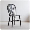 イギリス アンティーク調 ホイールバックチェア/ダイニングチェア/木製椅子/家具【車輪のモチーフが素敵なキッチンチェア】Z-485