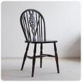 イギリス アンティーク調 ホイールバックチェア/ダイニングチェア/木製椅子/家具【車輪のモチーフが素敵なキッチンチェア】Z-488