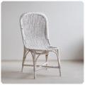 イギリス アンティーク ペイントラタンチェア/籐編み椅子/家具/店舗什器/ディスプレイ/カントリー【シャビーシック】Z-491