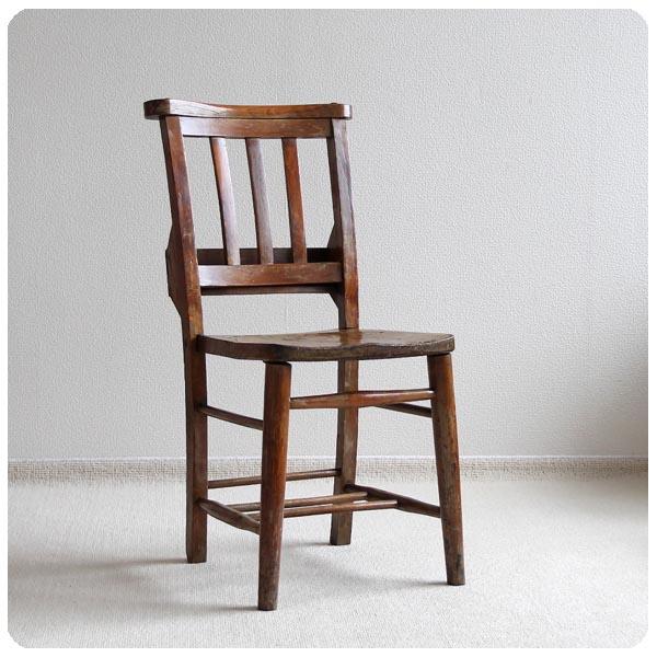 イギリス アンティーク 聖書BOX付きチャーチチェア/英国家具/カントリー/店舗什器【木味の教会椅子】Y-255