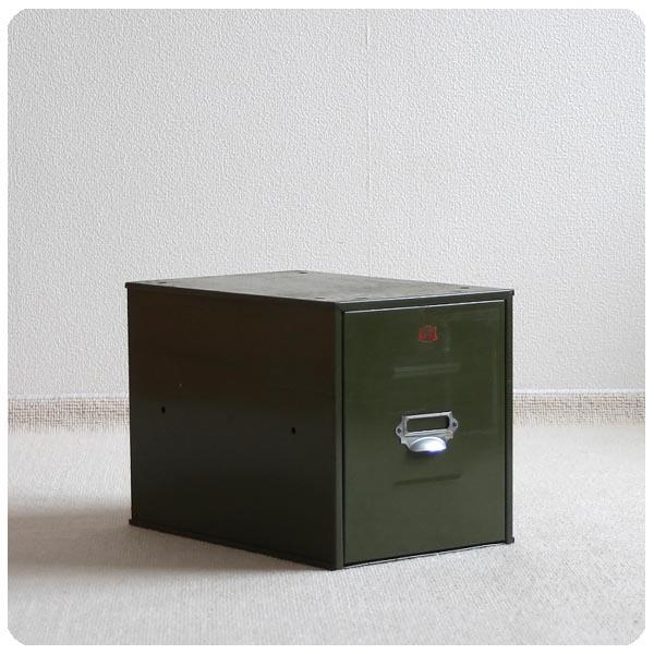 イギリス アンティーク スチール製ファイリングキャビネット/収納ボックス/メタルチェスト【VETERAN SERIES】Y-342