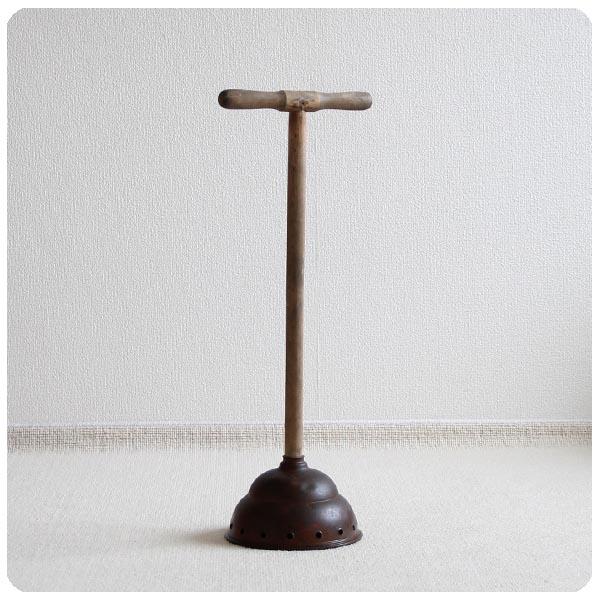 イギリス アンティーク コパー 洗濯棒/銅製×木製/インテリア雑貨/店舗什器【ガーデンディスプレイに!】Y-444
