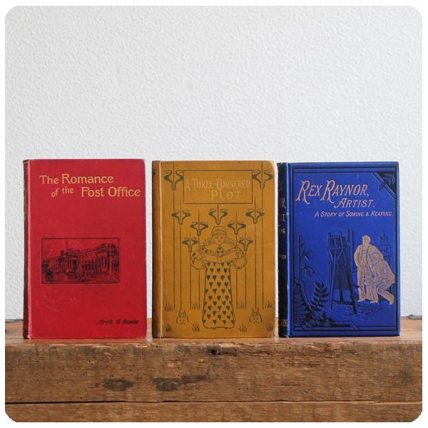 イギリス アンティークブック3冊セット/古本/古書/洋書/インテリア雑貨/書籍/ディスプレイ『Rex Raynor Artist』Y-916